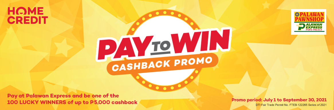Pay To Win Cashback Promo